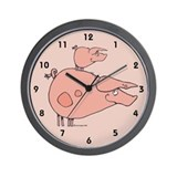 Pink Piggy Wall Clock