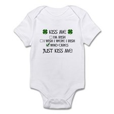 Who Cares, Just Kiss Me Infant Bodysuit
