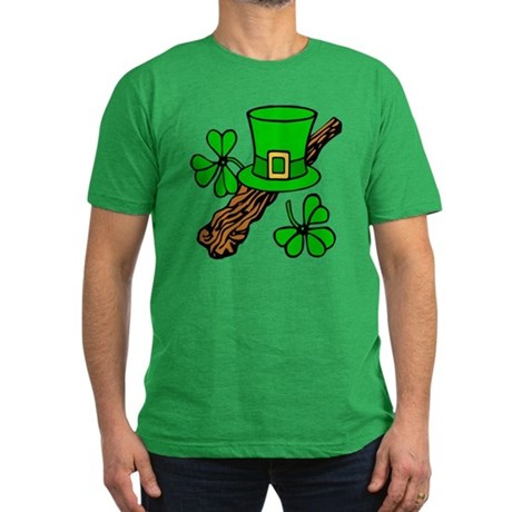 Irish Shillelagh Men's Fitted T-Shirt (dark)