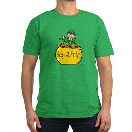 Pot of Gold Men's Fitted T-Shirt (dark)