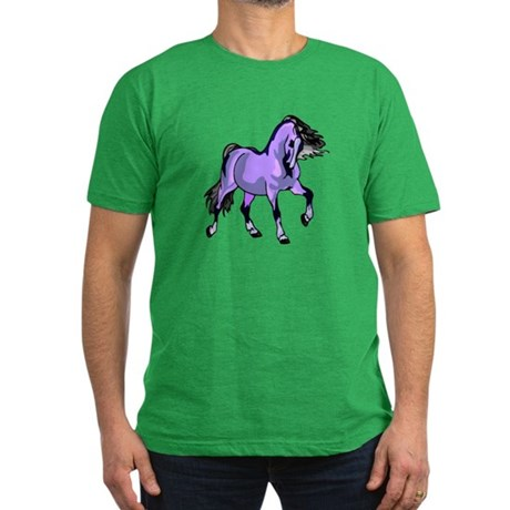 Fantasy Horse Lilac Men's Fitted T-Shirt (dark)