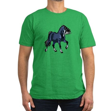 Fantasy Horse Blue Men's Fitted T-Shirt (dark)