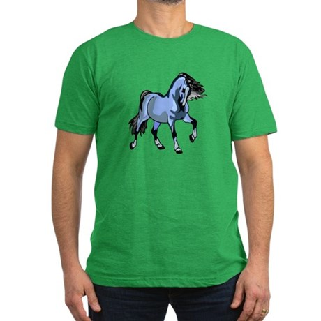 Fantasy Horse Light Blue Men's Fitted T-Shirt (dar