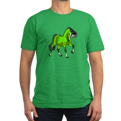 Fantasy Horse Lime Men's Fitted T-Shirt (dark)