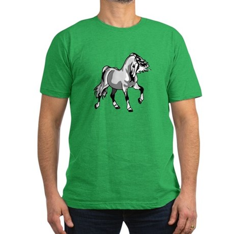 Spirited Horse White Men's Fitted T-Shirt (dark)