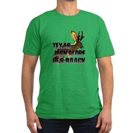 Texas Jackalope Men's Fitted T-Shirt (dark)