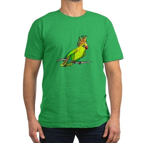 Cockatoo Men's Fitted T-Shirt (dark)