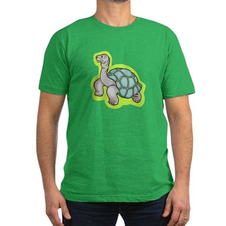 Little Turtle Men's Fitted T-Shirt (dark)