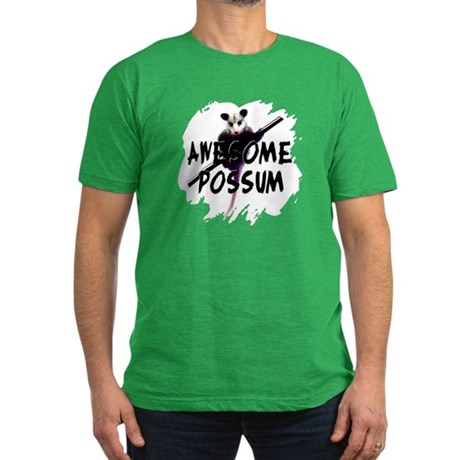 Awesome Possum Men's Fitted T-Shirt (dark)