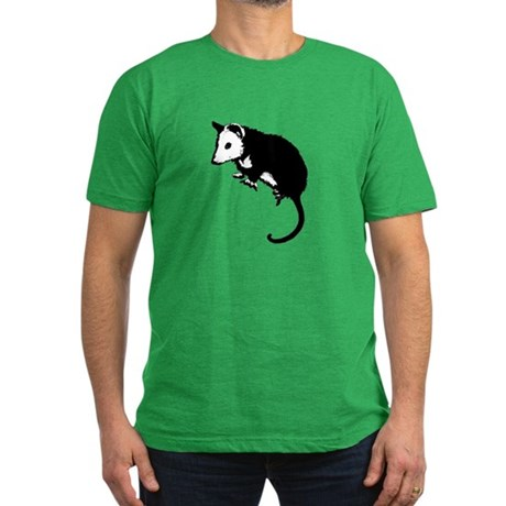 Possum Silhouette Men's Fitted T-Shirt (dark)