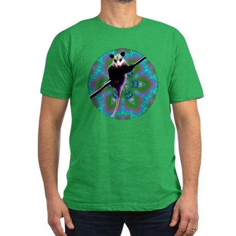 Possum Kaleidoscope Men's Fitted T-Shirt (dark)