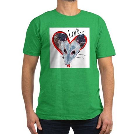 Possum Love Men's Fitted T-Shirt (dark)