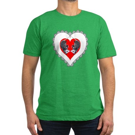 Opossum Valentines Day Heart Men's Fitted T-Shirt
