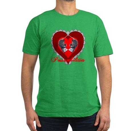 Possumbilities Valentines Day Men's Fitted T-Shirt
