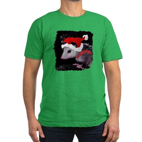 Possum Santa Men's Fitted T-Shirt (dark)
