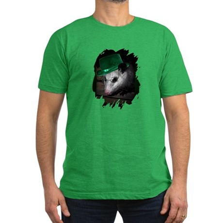 St. Patrick's Day Possum Men's Fitted T-Shirt (dar