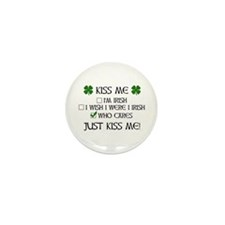 Who Cares, Just Kiss Me Mini Button (100 pack)