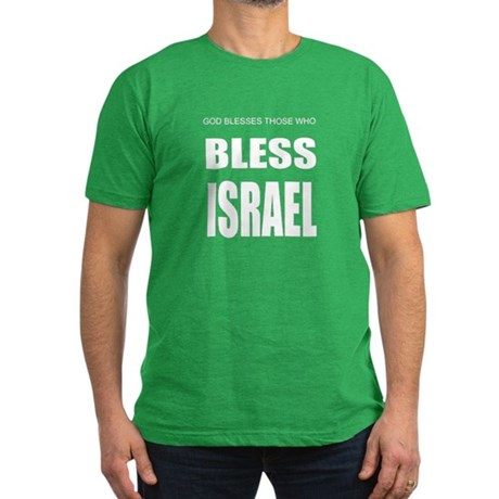 Bless Israel Men's Fitted T-Shirt (dark)