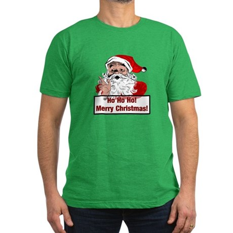 Santa Clause Men's Fitted T-Shirt (dark)