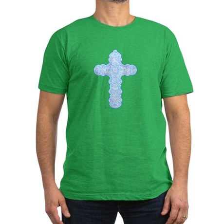 Pastel Cross Men's Fitted T-Shirt (dark)