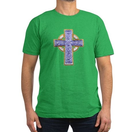 Celtic Cross Men's Fitted T-Shirt (dark)