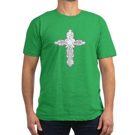 Victorian Cross Men's Fitted T-Shirt (dark)