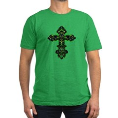 Ornate Cross Men's Fitted T-Shirt (dark)