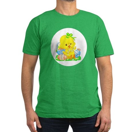 Easter Duckling Men's Fitted T-Shirt (dark)