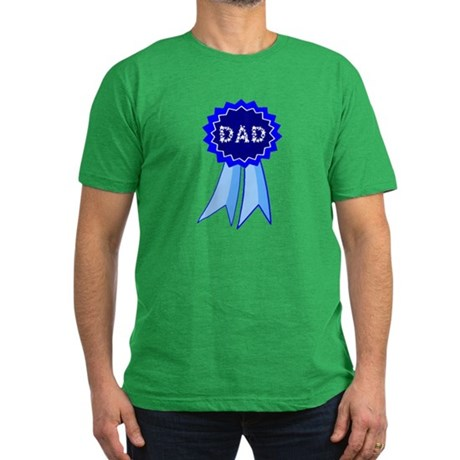 Dad's Blue Ribbon Men's Fitted T-Shirt (dark)