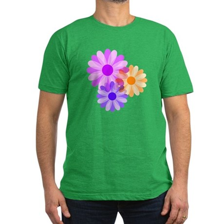 Flowers Men's Fitted T-Shirt (dark)
