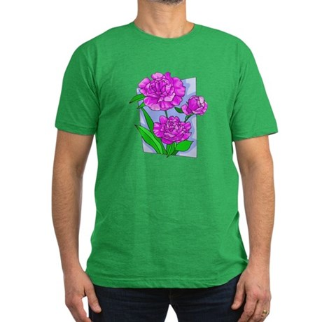 Pink Peonies Men's Fitted T-Shirt (dark)