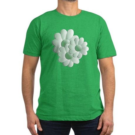 Pretty Daisy Trio - Green Men's Fitted T-Shirt (da