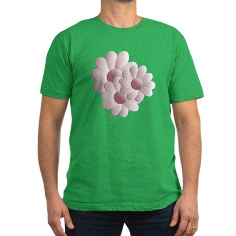 Pretty Daisy Trio - Pink Men's Fitted T-Shirt (dar