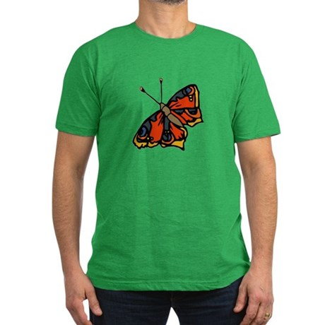 Orange Butterfly Men's Fitted T-Shirt (dark)