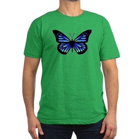Blue Butterfly Men's Fitted T-Shirt (dark)
