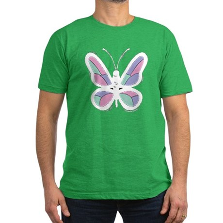 Patchwork Butterfly Men's Fitted T-Shirt (dark)