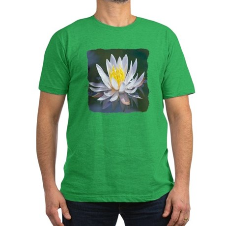 Lotus Blossom Men's Fitted T-Shirt (dark)