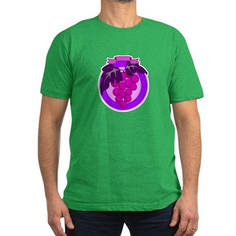 Purple Grapes Men's Fitted T-Shirt (dark)