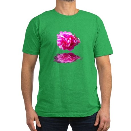 Peony Reflections Men's Fitted T-Shirt (dark)