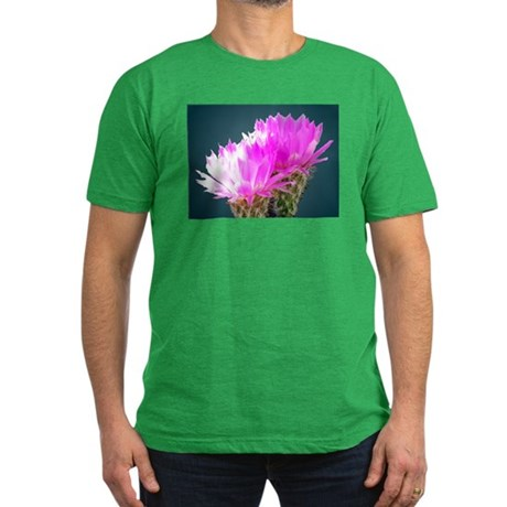 Cactus Blooms Men's Fitted T-Shirt (dark)