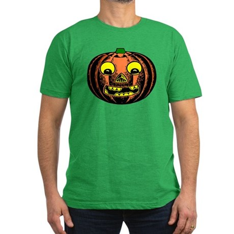 Vintage Jack-O-Lantern Men's Fitted T-Shirt (dark)