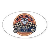 Rat Man Oval Decal