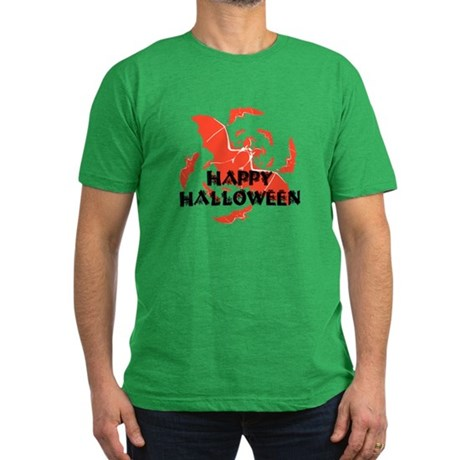 Happy Halloween Bats Men's Fitted T-Shirt (dark)