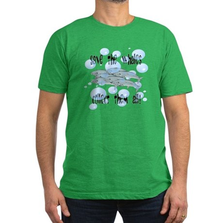 Save Whales - Collect Them Al Men's Fitted T-Shirt
