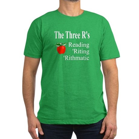 The Three R's Men's Fitted T-Shirt (dark)