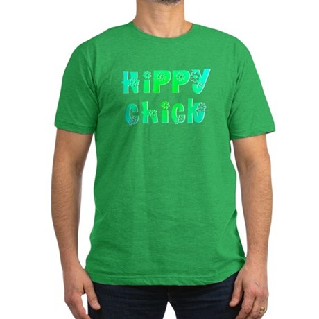 Hippy Chick Men's Fitted T-Shirt (dark)