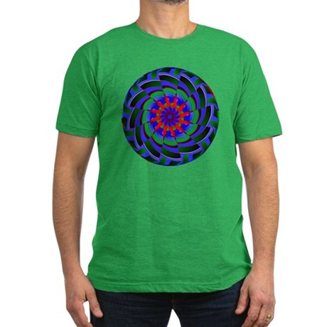 Kaleidoscope 0004 Men's Fitted T-Shirt (dark)
