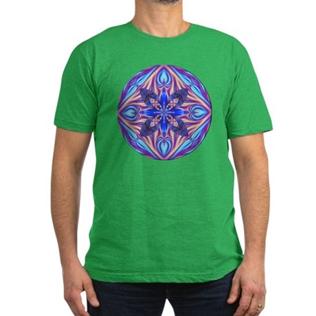 Kaleidoscope Fractal Men's Fitted T-Shirt (dark)