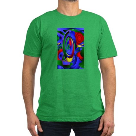 Abstract 001a Men's Fitted T-Shirt (dark)