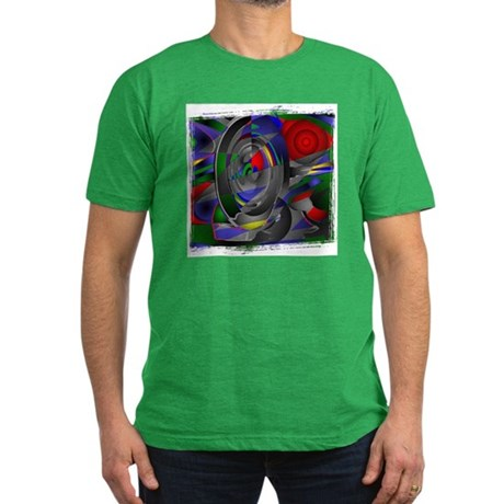 Abstract 002a Men's Fitted T-Shirt (dark)